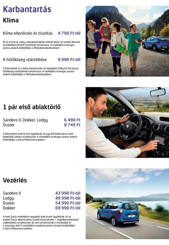 Dacia szerviz akció