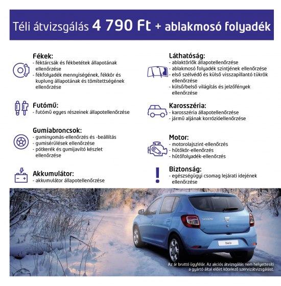 Dacia téli akció